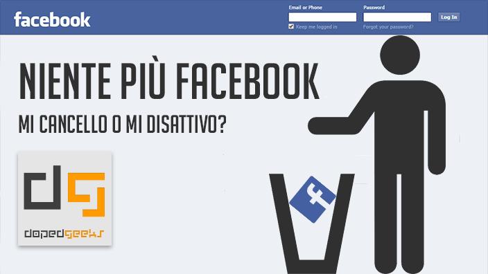 facebook disattivare account
