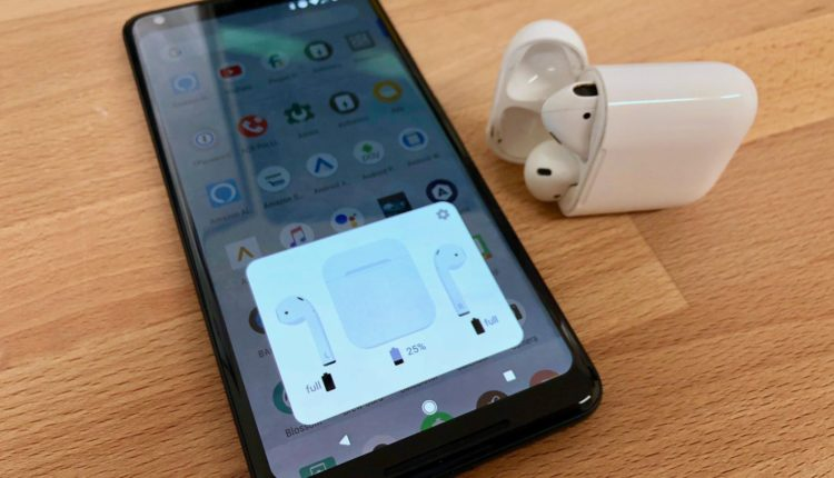 aumentare volume airpods su android