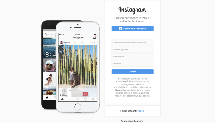 Instagram da browser